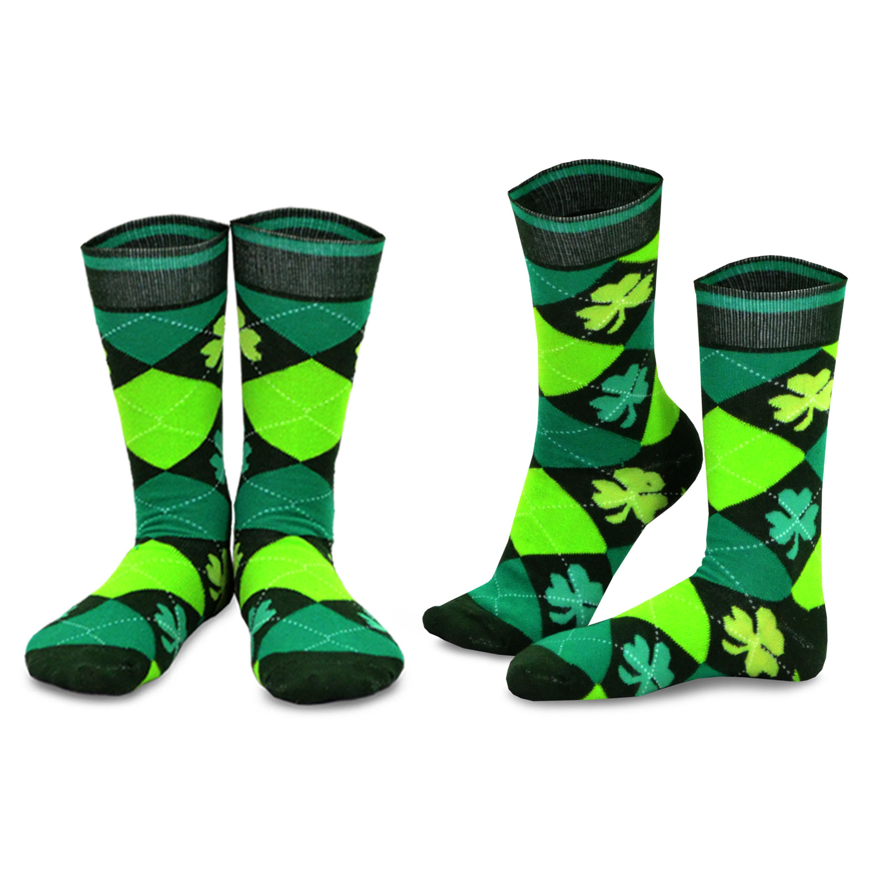 Patrick/'s Day Socks Ladies Crew Length Size 9-11 One Pair St
